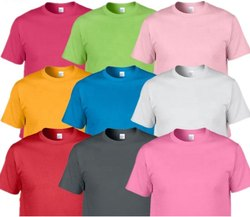 Polyester Plain T Shirt, Age Group: Adult, Quantity Per Pack: 12