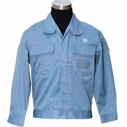 Blue Plain Industrial Uniforms Jacket, Construction