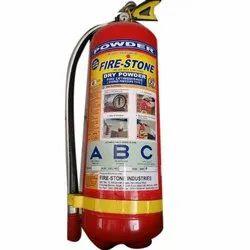 A B C Dry Powder Type Mild Steel Fire Stone Dry Powder Portable Fire Extinguisher, Capacity: 5Kg