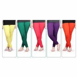Be Wow Churidar Ladies Plain Lycra Legging, Size: Free Size