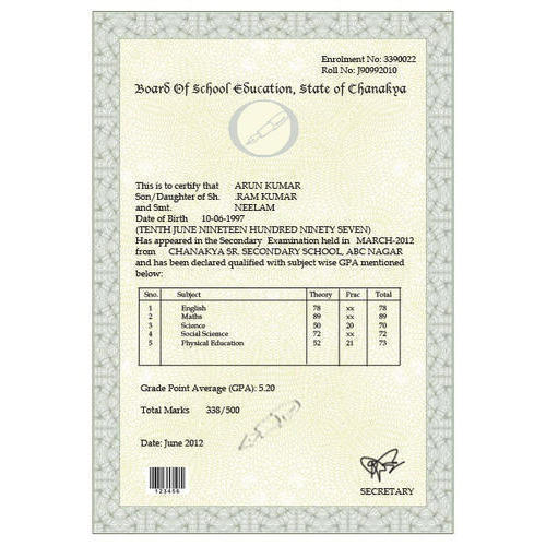 Marksheet Printing Service, Certificate Printing Services