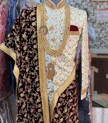 Groom Wear Embroidered Men's Sherwani