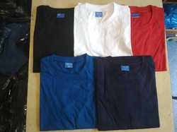Formal Wear Half Sleeves Round Neck T Shirts In Bulk