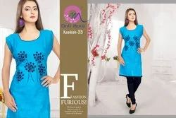 M To XXXXXL Sleeveless Ladies Cotton Jaipuri Kurtis