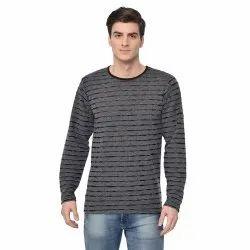 Vimal Jonney Cotton Blended Regular Sleeve Crew Neck Fashion Style Black Color T-Shirt for Men'S