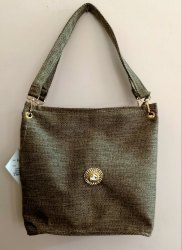 Brown Recycle Jute Tote Designer Women Handbag
