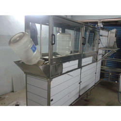 Automatic 20 Liter Jar Rinsing And Capping Machine