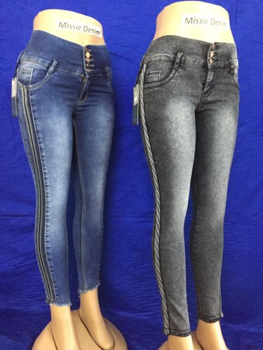 Missie Denim Ladies Ankle Length Jeans, Packaging Type: Packet, Waist Size: 28-40