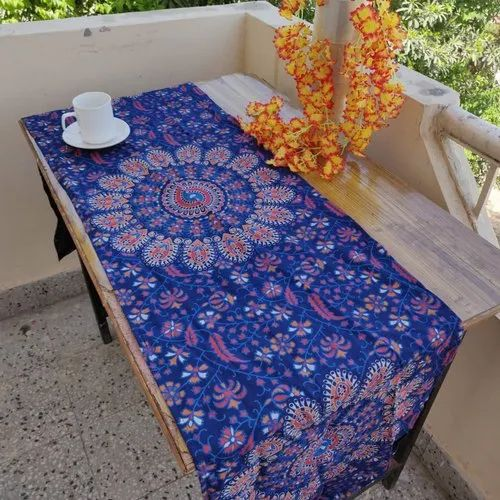 Cotton Table Cloth Block Print Runner
