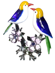 Decorative Handicraft Glass Birds, For Decoration, Size/Dimension: 8 Inch