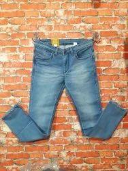 Slim Fit Casual Wear Mens Knitted Denim