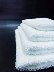 Cotton Plain Hospital White Bath Towels, For Bathroom