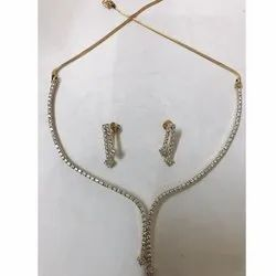 Diamond Simple Necklace Set