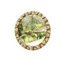 Furniture Cafe Mdf, Glass Decorative Round Wall Mirror, For Home