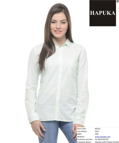 9f67f3166096 Cotton White Ladies Shirt, Size: S & XL, Rs 300 /piece, Hapuka India ...