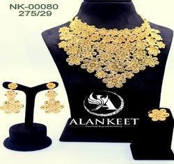 Gold Plated Choker Set Jewelry