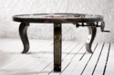 Bauhaus Quartz Mechanism Industrial Dining Table