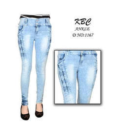 Kbc Female Ladies Jeans, Waist Size: 28 And 32 Inch