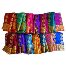Casual Wear, Party Wear Printed Pattu Embosed Ladies Sarees