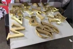 Mirror Finish Brass Letter