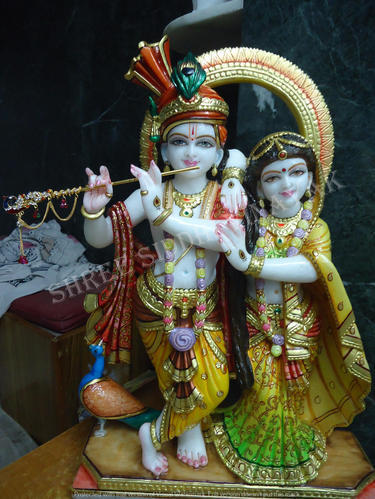 Marble Radha Krishna Statue Jugal Radhe Krishna Marble