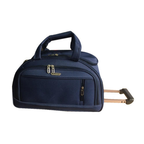 Navy Blue Polyester Rolling Duffle Bag 06adb6cd12bb7