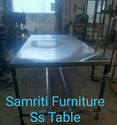 Commercial Powder Coated Ss table for warehouse