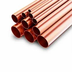 Indigo Oval Pipes Copper For Interiors, Thickness: 10SWG (3.2mm) to 27SWG (0.4mm)