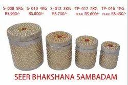 Decorative Steel Dabba Wedding Seer Sambadam