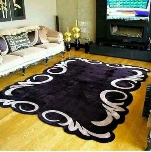 Woolen Black Living Room Carpet For, Living Room Carpet