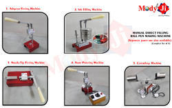 Ball Pen Making Red and Silver Manual Machine