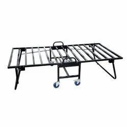 Mild Steel Black Folding Bed Structure