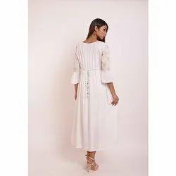 Designer Gathers White Kurti