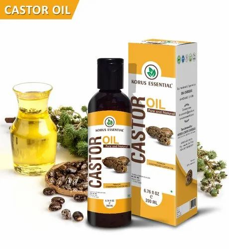 Korus Essential Pure Castor Oil 200ml Pack