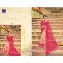 Bhandhej Print Georgette Navaratri Spacial Bandani Saree With Blouse Piece