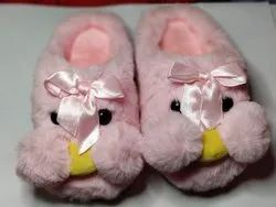 Women Best Pink Winter Slippers 100%Warm For 2 To 4 Years Old, Size: 5 Inch