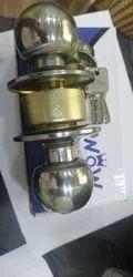 Brass Wow Knob Lock, Finish Type: Stainless Steel