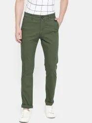 Slim Fit Mens Casual Cotton Trouser, Design/Pattern: Plain
