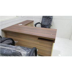 Wooden L Shape Interview Room Table