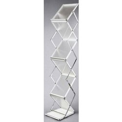 Aluminum And Acrylic Magazine Stand