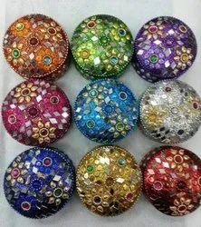 Color Coated Lac kumkum box, Handicraft