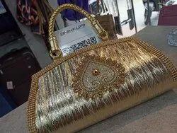 Hand Pouch Golden ladies purse