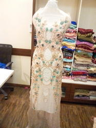 Embroidered Net Women Party Dress