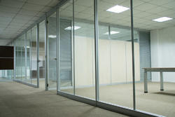 Plain Framed Office Glass Partition