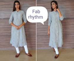 Fab Rhythm Straight Cotton Kurti