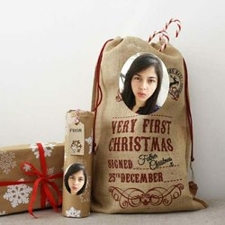 Brown Printed Jute Bags, Size: 14x10 Inches, Capacity: Upto 25 Kg