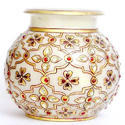 Gold Painting Marble Lota