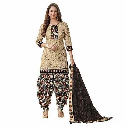 Janvi Casual Cotton Unstitched Salwar Suits