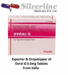 Ovral G 0.5mg Birth Control Pills Tablets