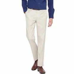Cotton 34 Men''s White Trouser